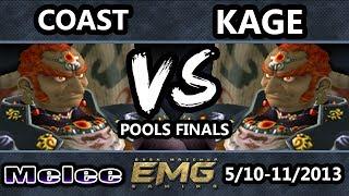 GOML - EMG | Coast (Ganondorf) Vs. Kage the Warrior (Ganon) SSBM Pools Winners Finals - Melee