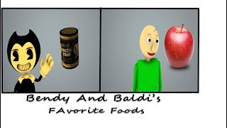 [SFM /BALDI] Baldi's Basic's Characters And Bendy And The Ink Machine And Their Favorite Foods