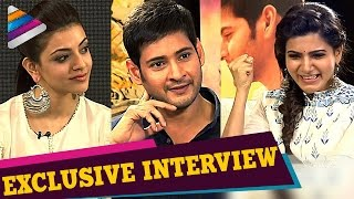 Brahmotsavam Telugu Movie | Samantha Interviews Mahesh Babu and Kajal Aggarwal | Telugu Filmnagar