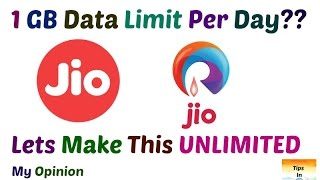 JIO Daily 1Gb Data Limit | Make This UNLIMITED | My Opinion