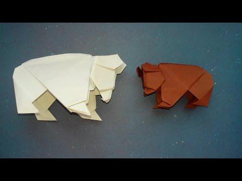 Как можно сделать медведя из бумаги