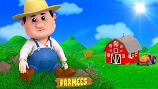 Old Macdonald Had A Farm | English Nursery Rhymes | Kindergarten Songs for Kids Playlist by Farmees