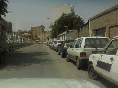 Mashhad Iran Streets from inside a cab Jannat to Arya Hospotal to Golestan Street to Danshgah St.