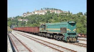 ESI086551 Acoustic delight Slovenia: dizelska lokomotiva Reagan 664-105 Štanjel Bohinjska proga vlak