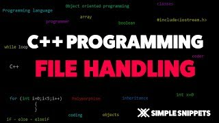 File Handling in C++ Programming