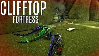 MOST INTERESTING RAID on The Floating Cliff Fortress - ARK Survival (E107) - Official PVP