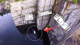 Freestyle Cliff Jumping 2016 - 82 foot Fail!