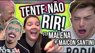 TENTE NÃO RIR - memes do vale ft. Malena e Maicon Santini | Diva Depressão
