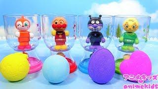 アンパンマン アニメ おもちゃ お風呂 バスボール バスボム 入浴剤 びっくらたまご animekids アニメキッズ Anpanman Toy