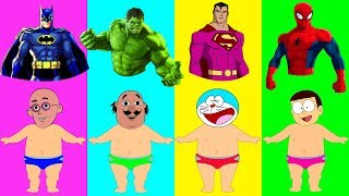 Dress Doraemon Nobita Motu Patlu Hulk Batman Superheroes Finger Family Nursery Rhymes