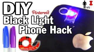 DIY Black Light Phone Hack - Man Vs. Pin #32