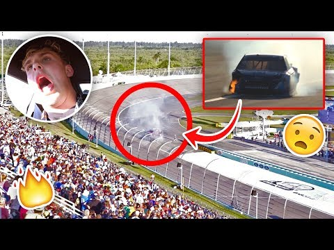 Our NASCAR Caught On Fire During The Race EMERGENCY