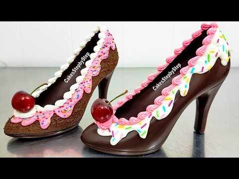 Xxx Mp4 How To Make A CHOCOLATE HIGH HEEL SHOE Tempered Chocolate Amp Royal Icing By Cakes StepbyStep 3gp Sex