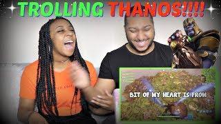 "Azerrz ""BLACK PANTHER vs. THANOS on FORTNITE! (Voice Troll)"" REACTION!!!"