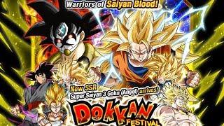 670 STONES! NICE PULLS! SUPER SAIYAN 3 ANGEL GOKU DOKKAN FESTIVAL | DBZ Dokkan Battle