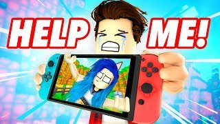 WE'RE STUCK IN A VIDEO GAME! ESCAPE THE NINTENDO SWITCH IN ROBLOX!