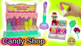 Queen Elsa and Princess Anna Shop At Beados Sweet Scoop 'N Mix Candy Shop
