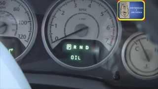 Como Reiniciar el Cambio de Aceite en un Chrysler Town Country 2003 Oil Change Aviso Reset