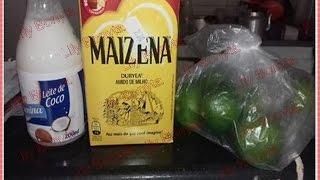Progressiva caseira Leite de coco, limão, maizena e oleo de coco