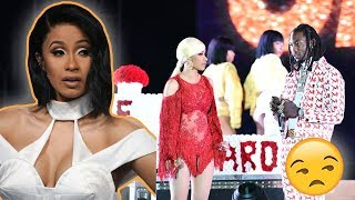 Offset CRASHES Cardi B's Performance To BEG For Her Back
