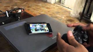 Jugando King of Fighters 2002 con control de PS3 en Android
