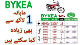 Earn More Than 1 Lac Monthly From BYKEA  Bike Service in Pakistan