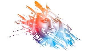 Photoshop | Amazing Photo Effects Paint Splash on face using Brush