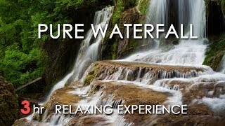 Waterfall Sounds - Relaxing Nature Video - White Noise - 3 Hours - HD 1080p - Study/ Relax/ Sleep