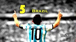 Lionel Messi Top 10 Goals Argentina 2005- 2014 BY THE SPORTS