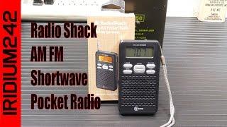 Radio Shack AM FM Shortwave Pocket Radio