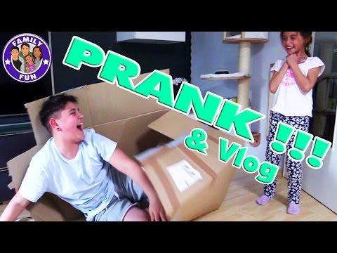 CIHAN PRANKT MILEY Kira erschrocken Vlog 73 Our life FAMILY FUN