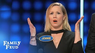 Lola surprises Steve (and her dad) | Celebrity Family Feud