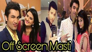 Off Screen Masti of Rishi & Tanu : Kasam Tere Pyaar Ki