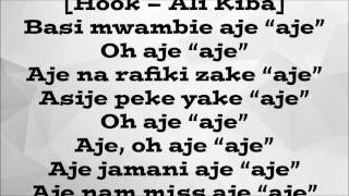 Ali Kiba ft M.I - Aje (lyric video)
