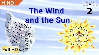 """The Wind and the Sun: Learn Hindi with subtitles - Story for Children """"BookBox.com"""""""