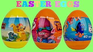 EASTER EGGS Jelly Bean Candy Dispenser, Trolls Beauty & the Beast, Lion Guard Toy Surprise /TUYC