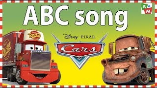 ABC Song with Disney Cars Cartoon - Children & Baby Music Alphabet Animation