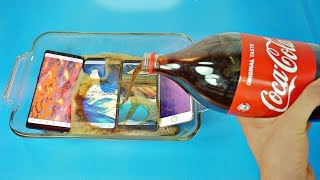Samsung Galaxy Note 8 Coca Cola Test vs iPhone 7, S8 Plus & LG G6! Coca Cola Proof?
