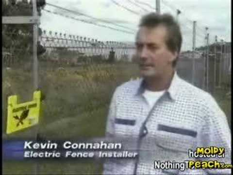 Reporter Touches a 6000 volt Fence