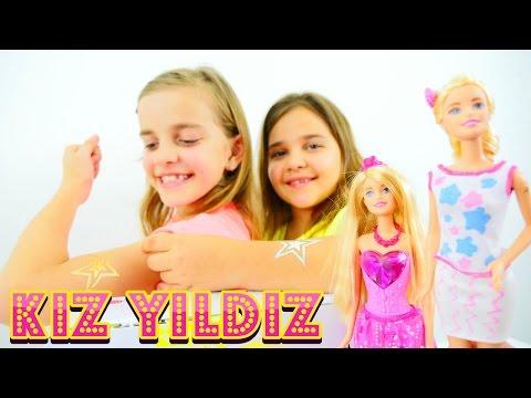 Kız Yıldız – Çocuk dövme oyunu. Sema ve Ayça #Barbie süslüyorlar