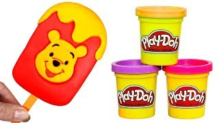Winnie the Pooh Play Doh Ice Cream How to Make Fun Ice Cream Popsicle with Tigger and Pooh
