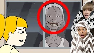 Reacting To True Story Scary Animations Part 15 ft My Girlfriend (Do Not Watch Before Bed)