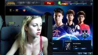 Jessie Rogers playing League of Legends (26 September 2013)