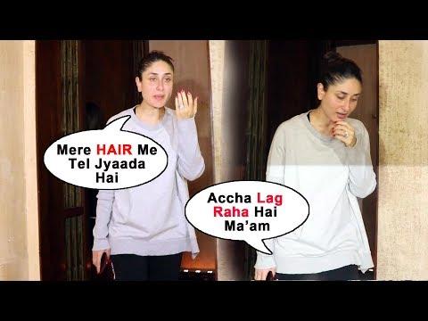 बिना MAKE-UP में पकड़ी गयी Kareena Kapoor, मेरे बालों में ज्यादा तेल है, विडियो मत निकालो