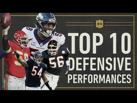 The Top 10 Greatest Single Game Defensive Performances in NFL History Vault Stories