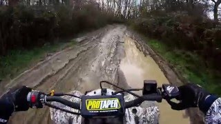 Suzuki ltz 400 on Kent byways / green laning (quad bike) (off roading)