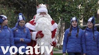Russian Santa Claus Sent To Crimea On Political Propaganda Mission