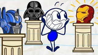 Pencilmate in a BATTLE of The BRAINS | Animated Cartoons Characters | Animated Short Films