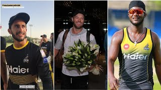 Ab de Villiers reaches Dubai + Darren Sammy having fun with Wahab Riaz Psl 4 2019 HD