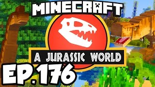 Jurassic World: Minecraft Modded Survival Ep.176 - SEARCHING FOR DINOSAURS FOSSILS! (Dinosaurs Mods)